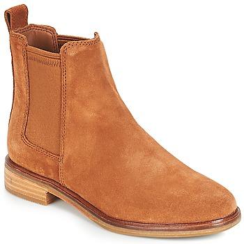 鞋子 女士 短筒靴 Clarks 其乐 CLARKDALE 驼色