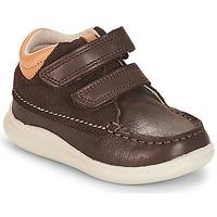 鞋子 男孩 高帮鞋 Clarks 其乐 Cloud Tuktu 棕色 / Combi / Lea