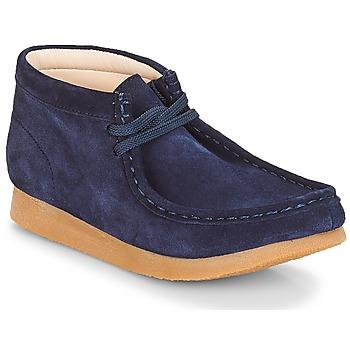 鞋子 儿童 短筒靴 Clarks 其乐 Wallabee Bt 海军蓝 / Suede