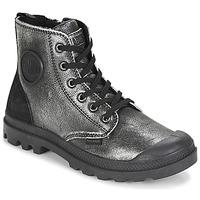 鞋子 女士 短筒靴 Palladium 帕拉丁 PAMPA HI 黑色 / 银灰色