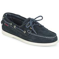 鞋子 男士 船鞋 Sebago 仕品高 DOCKSIDES SUEDE 海藍色