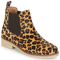 鞋子 女士 短筒靴 Bensimon BOOTS CREPE Leopard