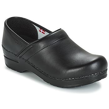 鞋子 男士 洞洞鞋/圆头拖鞋 Sanita PROF 黑色