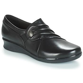 鞋子 女士 平底鞋 Clarks 其乐 HOPE ROXANNE 黑色