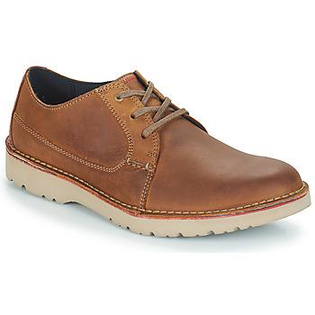 鞋子 男士 德比 Clarks 其乐 VARGO PLAIN 棕色