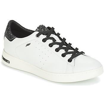 鞋子 女士 球鞋基本款 Geox 健樂士 JAYSEN 白色 / 銀灰色