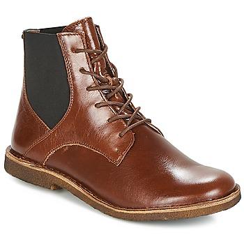 鞋子 女士 短筒靴 Kickers TITI 棕色