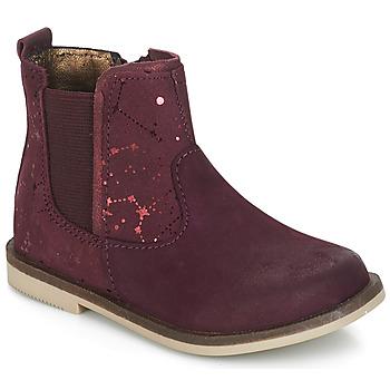 鞋子 女孩 短筒靴 Kickers MOON 波尔多红