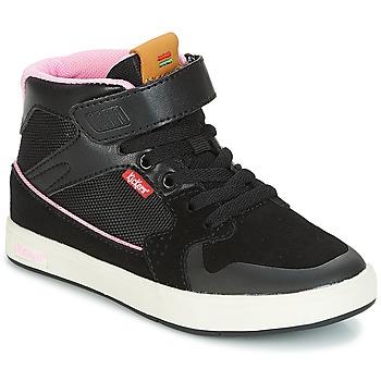 鞋子 女孩 高帮鞋 Kickers GREADY MID CDT 黑色 / 玫瑰色