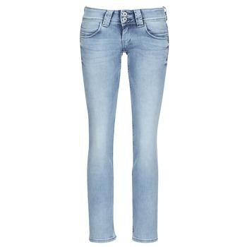 衣服 女士 直筒牛仔裤 Pepe jeans VENUS 蓝色 / 米色