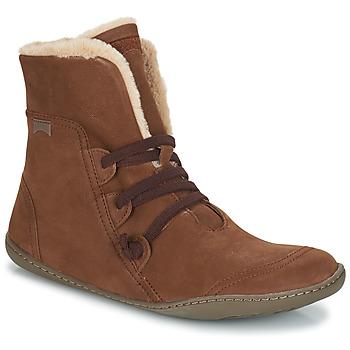 鞋子 女士 短筒靴 Camper 看步 PEU CAMI 棕色