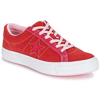 鞋子 女士 球鞋基本款 Converse 匡威 ONE STAR OX 红色 / 玫瑰色