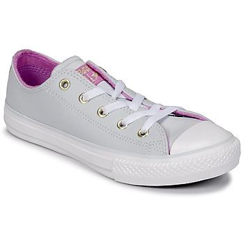 鞋子 女孩 高帮鞋 Converse 匡威 CHUCK TAYLOR ALL STAR HI Pure / 铂金色 / 紫红色 /  glow / 白色