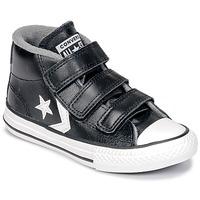 鞋子 儿童 高帮鞋 Converse 匡威 STAR PLAYER 3V MID 黑色 / Mason / 复古 / 白色
