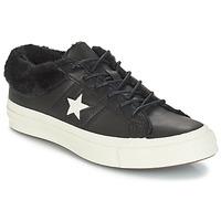鞋子 女士 球鞋基本款 Converse 匡威 ONE STAR LEATHER OX 黑色
