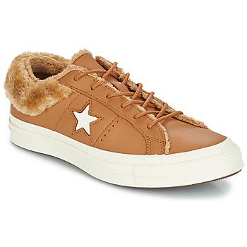 鞋子 女士 球鞋基本款 Converse 匡威 ONE STAR LEATHER OX 驼色