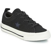 鞋子 儿童 球鞋基本款 Converse 匡威 ONE STAR NUBUCK OX 黑色 / 白色