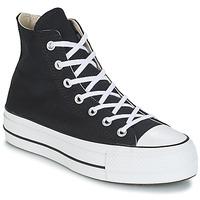 鞋子 女士 高幫鞋 Converse 匡威 CHUCK TAYLOR ALL STAR LIFT CANVAS HI 黑色