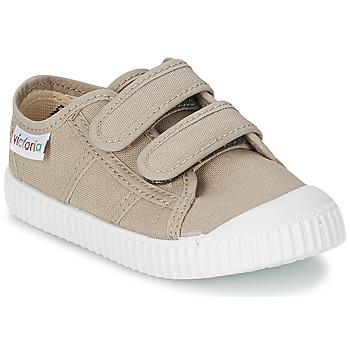 鞋子 儿童 球鞋基本款 Victoria 维多利亚 BLUCHER LONA DOS VELCROS 米色