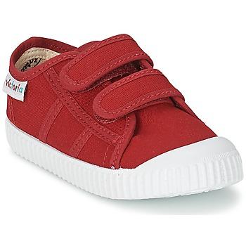 鞋子 儿童 球鞋基本款 Victoria 维多利亚 BLUCHER LONA DOS VELCROS  胭脂紅