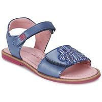 鞋子 女孩 凉鞋 Agatha Ruiz de la Prada 阿嘉莎·鲁兹·德 MISS PONZA 蓝色