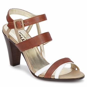 鞋子 女士 凉鞋 Karine Arabian JOLLY 棕色 / 米色 / 白色