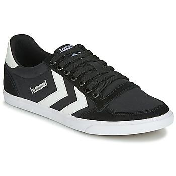 鞋子 球鞋基本款 Hummel TEN STAR LOW CANVAS 黑色 / 白色