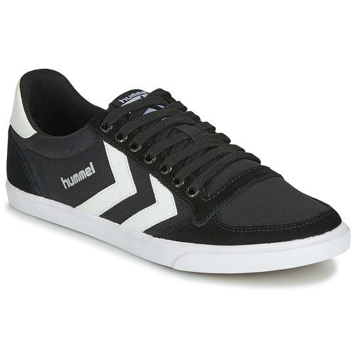 鞋子 男士 球鞋基本款 Hummel TEN STAR LOW CANVAS 黑色 / 白色