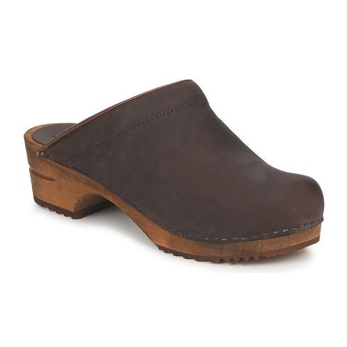 鞋子 女士 洞洞鞋/圆头拖鞋 Sanita CHRISSY OPEN 棕色