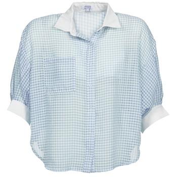 衣服 女士 衬衣/长袖衬衫 Brigitte Bardot AMARANTE 蓝色 / 白色
