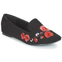鞋子 女士 皮便鞋 Moony Mood JASMINY 黑色 / 花