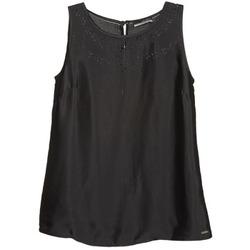 衣服 女士 无领短袖套衫/无袖T恤 La city LUCRETIA 黑色