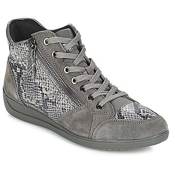 鞋子 女士 球鞋基本款 Geox 健乐士 D MYRIA 灰色 / Fonce