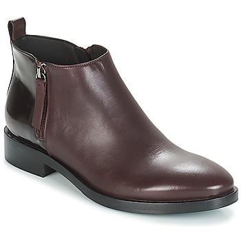 鞋子 女士 短靴 Geox 健乐士 DONNA BROGUE 波尔多红
