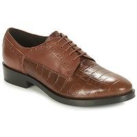 鞋子 女士 德比 Geox 健乐士 DONNA BROGUE 棕色