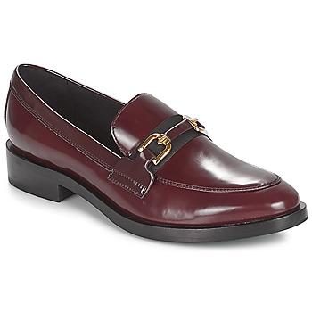 鞋子 女士 皮便鞋 Geox 健乐士 DONNA BROGUE 波尔多红 / 黑色