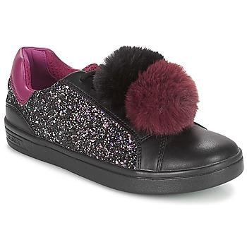鞋子 女孩 球鞋基本款 Geox 健乐士 J DJROCK GIRL 黑色 / 紫罗兰