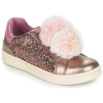 鞋子 女孩 球鞋基本款 Geox 健乐士 J DJROCK GIRL 米色 / 玫瑰色