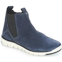 鞋子 男孩 短筒靴 Geox 健乐士 J XUNDAY BOY 海蓝色