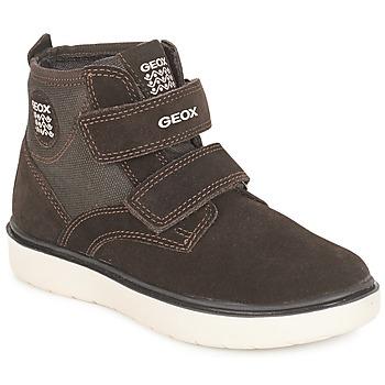 鞋子 男孩 高帮鞋 Geox 健乐士 J RIDDOCK BOY 棕色 / 海蓝色