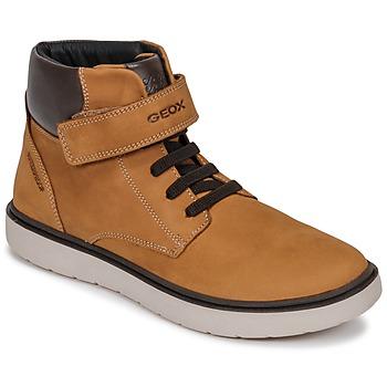 鞋子 男孩 高帮鞋 Geox 健乐士 J RIDDOCK BOY WPF 棕色