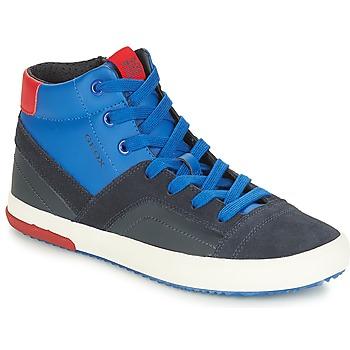 鞋子 男孩 高帮鞋 Geox 健乐士 J ALONISSO BOY 海蓝色 / 红色
