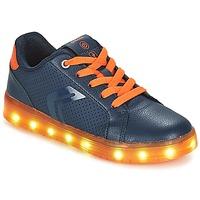 鞋子 男孩 球鞋基本款 Geox 健樂士 J KOMMODOR BOY 海藍色 / 橙色