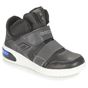 鞋子 男孩 高幫鞋 Geox 健樂士 J XLED BOY 黑色