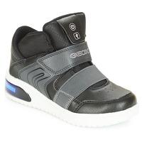 鞋子 男孩 高帮鞋 Geox 健乐士 J XLED BOY 黑色