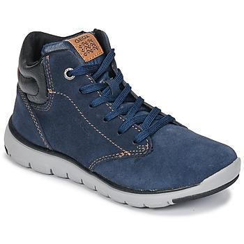 鞋子 男孩 高帮鞋 Geox 健乐士 J XUNDAY BOY 海蓝色 / 黑色