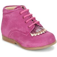 鞋子 女孩 短筒靴 André LILY 紫紅色
