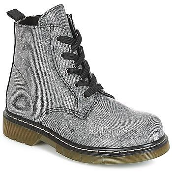 鞋子 女孩 短筒靴 André MARLA 银色