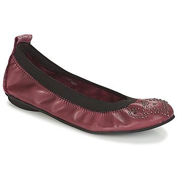 鞋子 女孩 平底鞋 André FAUSTINE 波爾多紅