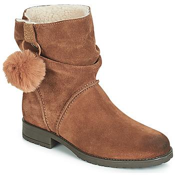 鞋子 女孩 短筒靴 André NOLA 棕色